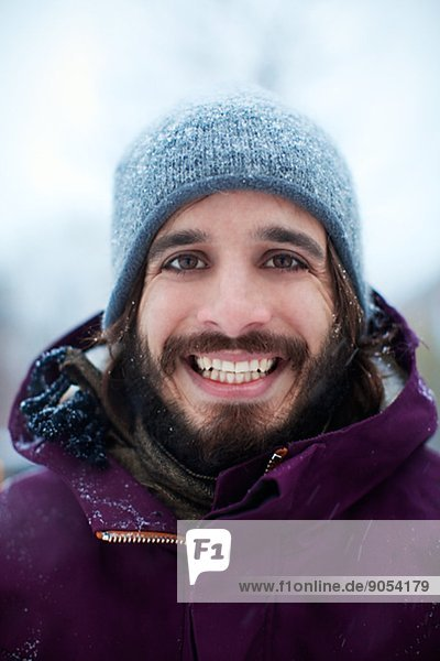 Portrait of smiling young man  Manhattan  New York City  USA