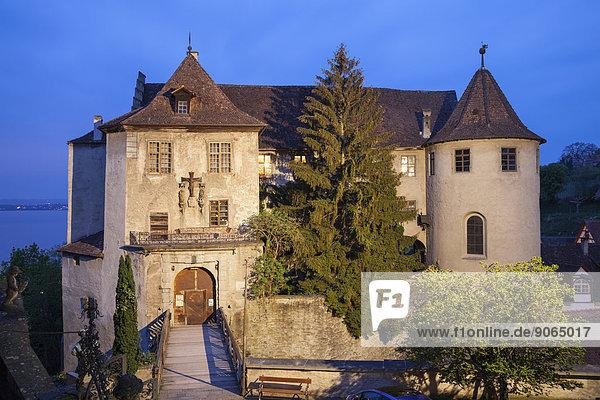 Burg Meersburg  Altes Schloss  Meersburg  Bodensee  Baden-Württemberg  Deutschland