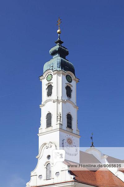 Kirche Sankt Peter und Paul  Steinhausen  Oberschwaben  Baden-Württemberg  Deutschland