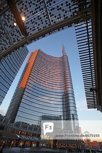 Unicredit tower in Porta Nuova  Milan  Italy.