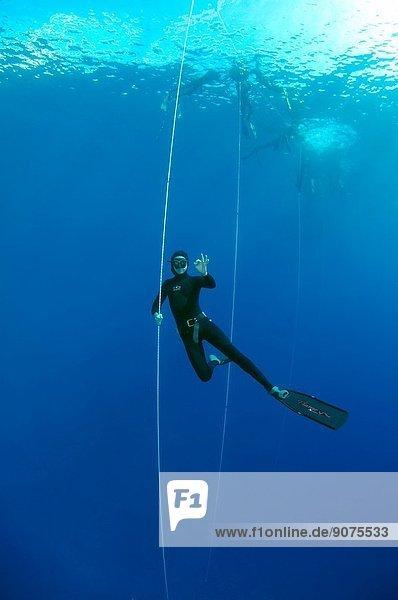 Freediver  Mediterranean Sea  Kash  Turkey.