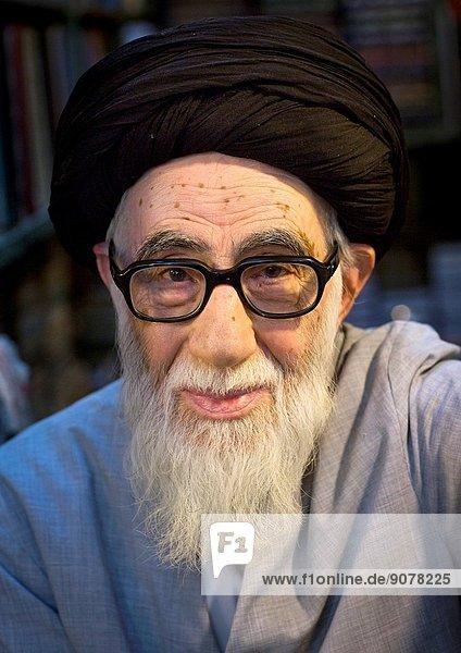 Old Religious Man Inside The Old Bazaar  Tabriz  Iran.