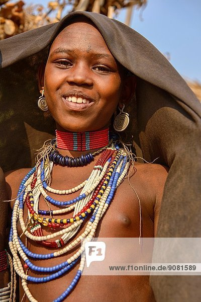 girl of the Arbore tribe in the Lower Omo Valley of Ethiopia.