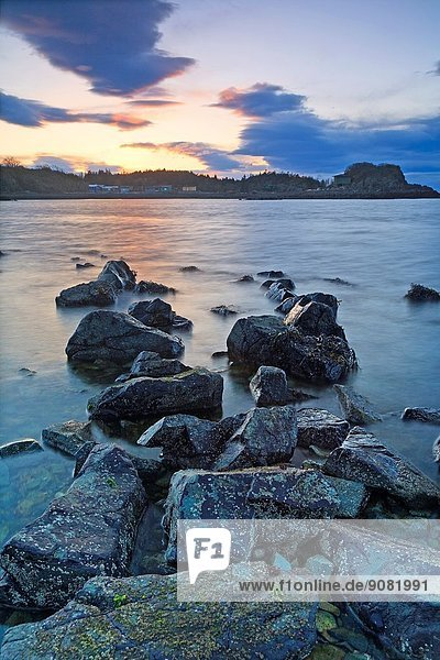 Sunset over Hammond Bay  north Nanaimo  Vancouver Island  BC.