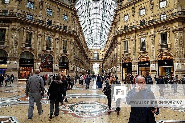 Galleria Vittorio Emanuele II  Milan  Italy.