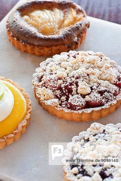 selection of tartes  D'Angelo Pastry and Bread  Santa Barbara  California