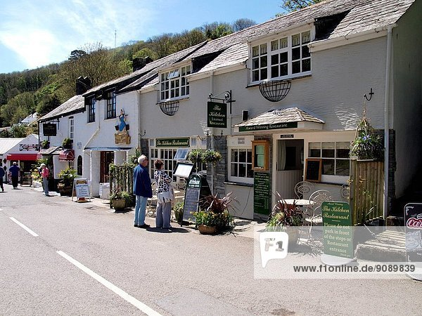 The Kitchen Restaurant  Polperro  Cornwall  UK