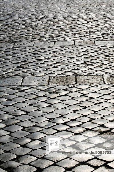 San pietrini pavingstones at St Peter's basilica  Rome  Italy.