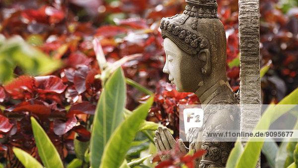 Asien  Thailand  Bangkok  Buddha-Figur im Garten