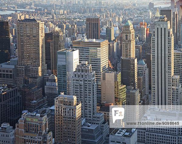 New York City Skyline  New York  Vereinigte Staaten von Amerika