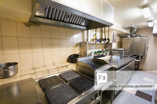 leer  Küche  Innenaufnahme  Restaurant