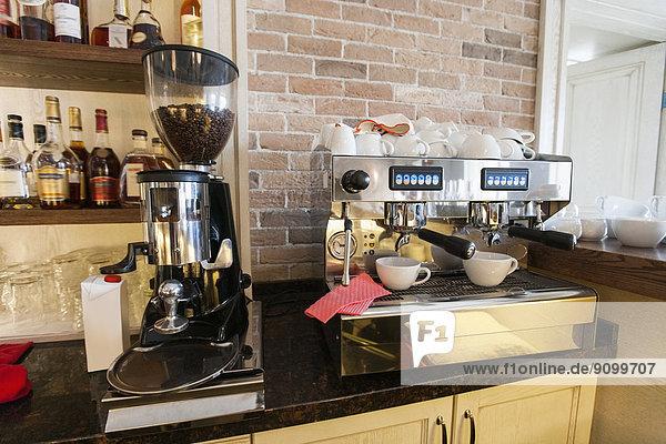 Maschine  Restaurant  Kaffee  Tresen  Espresso