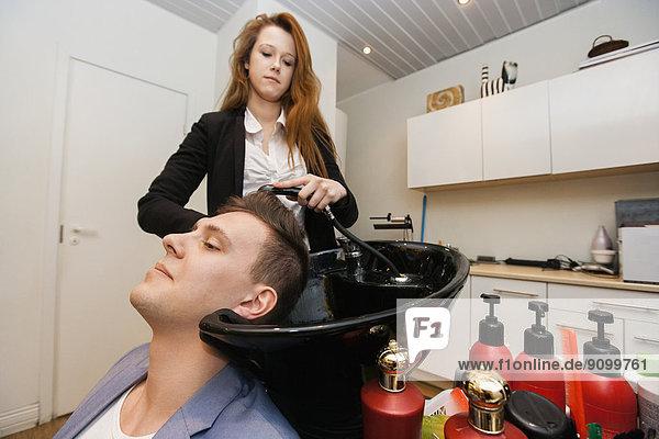 waschen  Friseur  Laden  Haar