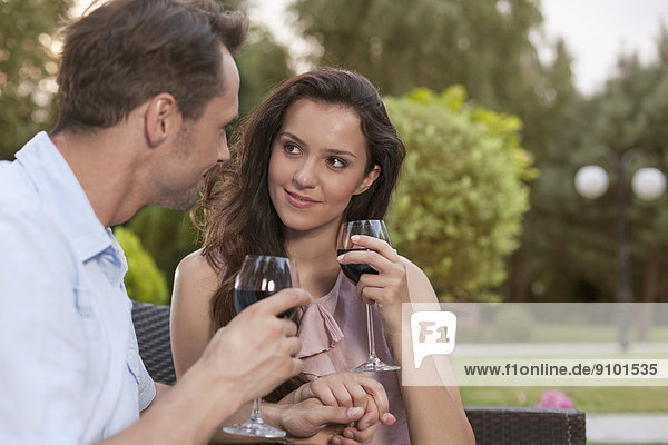 Wein  halten  rot  jung  Romantik
