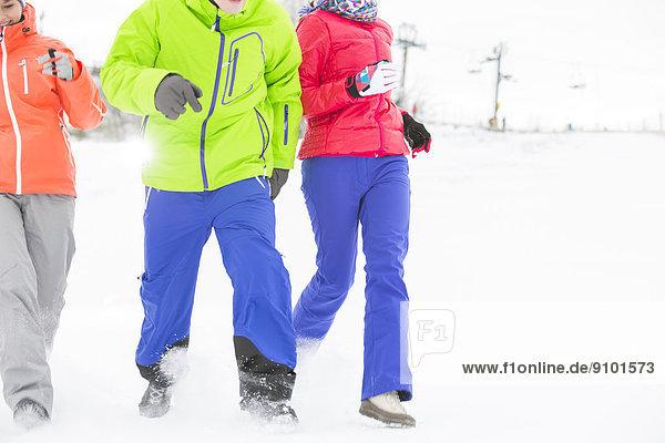 Freundschaft  rennen  jung  3  Schnee