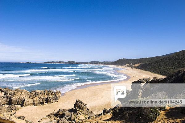 Beach  Garden Route  Brenton on Sea  Western Cape  South Africa