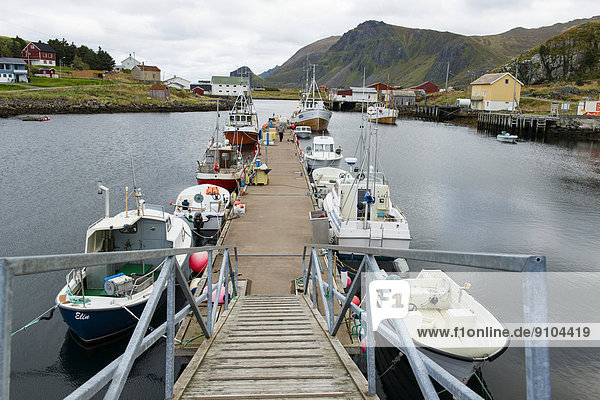 Fishing village of Nykvåg  Bo  Vesteralen  Nordland  Norway