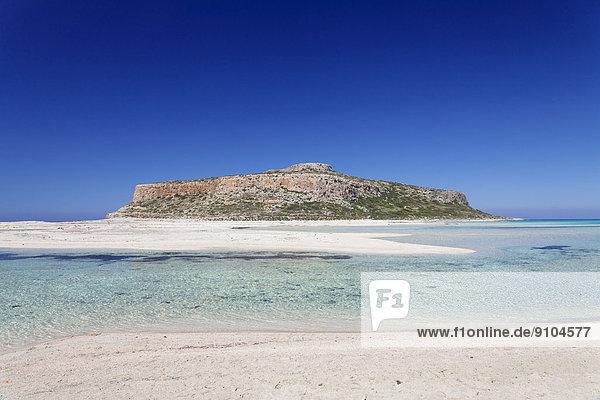 Strand und Bucht von Balos  Halbinsel Gramvousa  Kreta  Griechenland