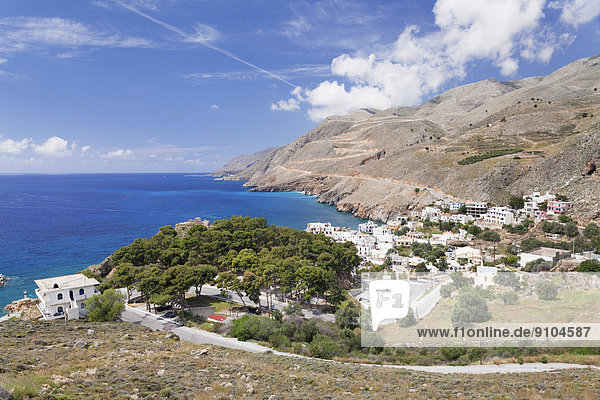 Ansicht Kreta Griechenland