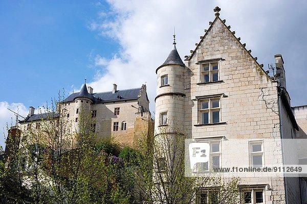 Frankreich  Gebäude  Festung  Monarchie  Lodge  Landhaus  Nostalgie  reparieren  Chinon  Indre-et-Loire  Loiretal  Residenz