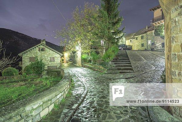 Nacht  klein  Dorf  Spanien