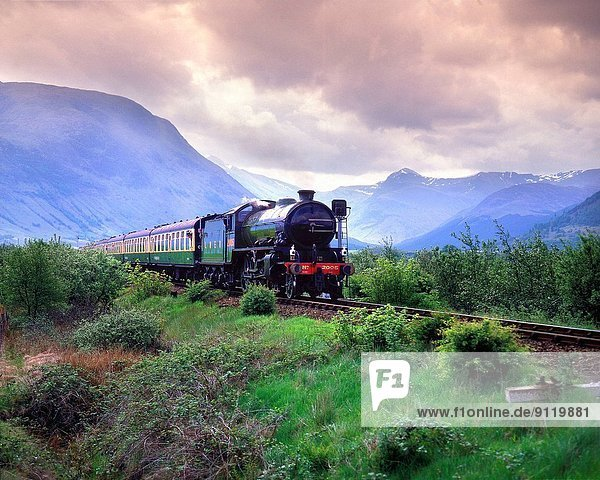Lner Steam Train K Heads Towards Corpach With Ben Nevis In View