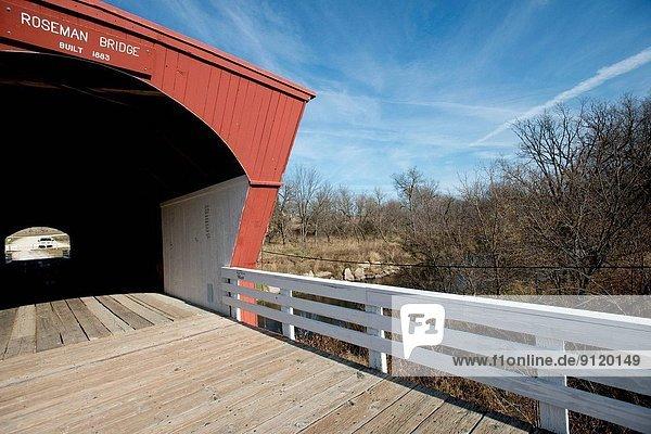 Iowa  Winterset  Roseman Covered Bridge over Middle River