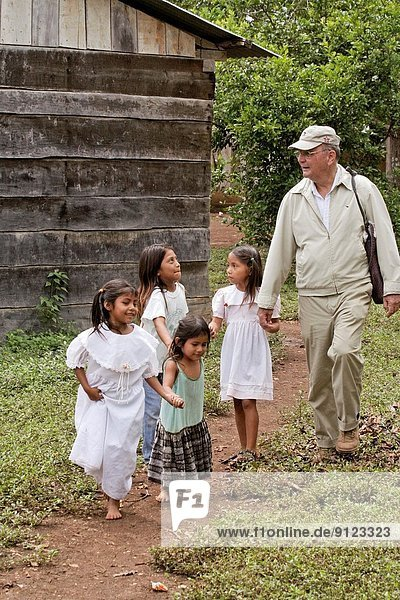 GUATEMALA. American missionary Catholic Brother working with returnees who had been displaced by the war. Peten.