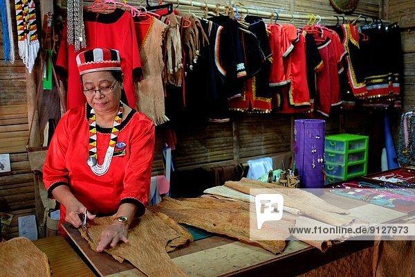Dorf  Schneider  Kultur  Malaysia  Sarawak