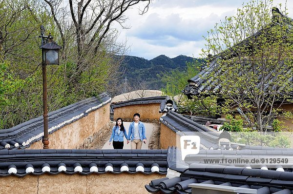 Straße Dorf jung Südkorea