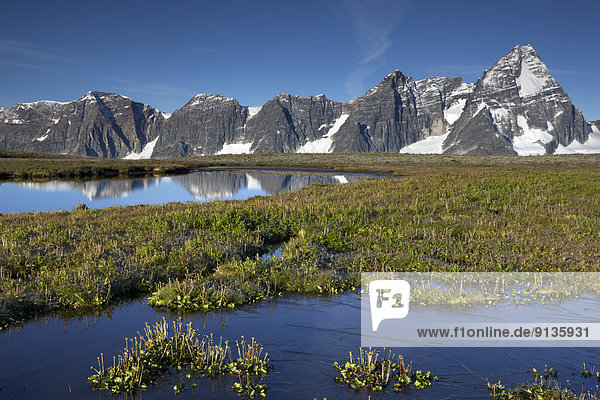 Berg  British Columbia  Kanada  gefroren  Glacier Nationalpark  Selkirk Mountains  Tarn