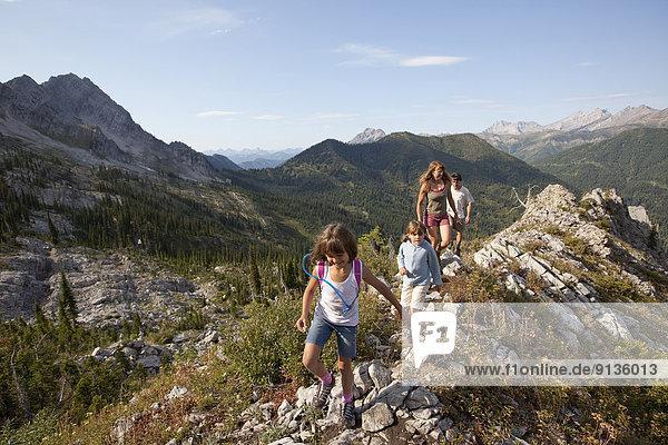 folgen  wandern  jung  Fernie  British Columbia  Kanada  Echse