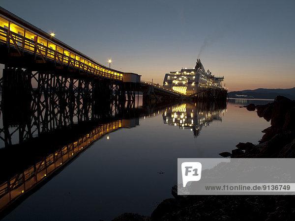 Schönheit  Sonnenuntergang  Dock  Fähre  British Columbia  Kanada  Prinz