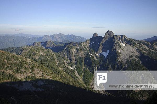 folgen  über  Berg  Geräusch  Kopfbedeckung  Bucht  British Columbia  Kanada  Cypress Provincial Park