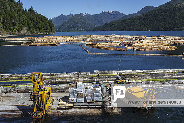 The Uchuck 111 delivers supplies to the Frank Bebin logging camp off the British Columbia coast.No Release