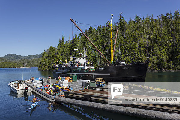 Hafen Küste Kajakfahrer Freiheit britisch Kanada