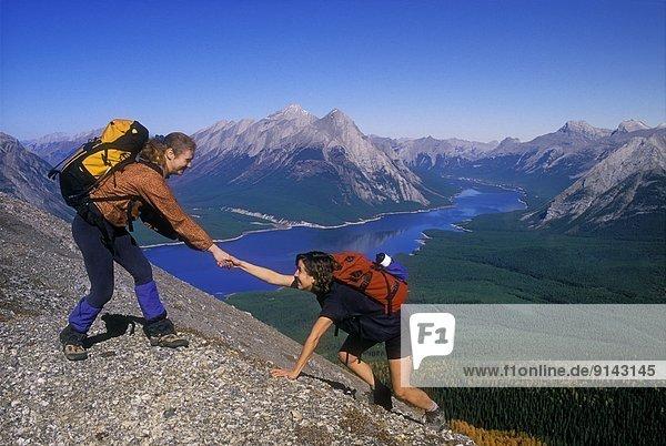 hoch  oben  nahe  Frau  Berg  Hilfe  Canmore  Alberta  Alberta  Kanada