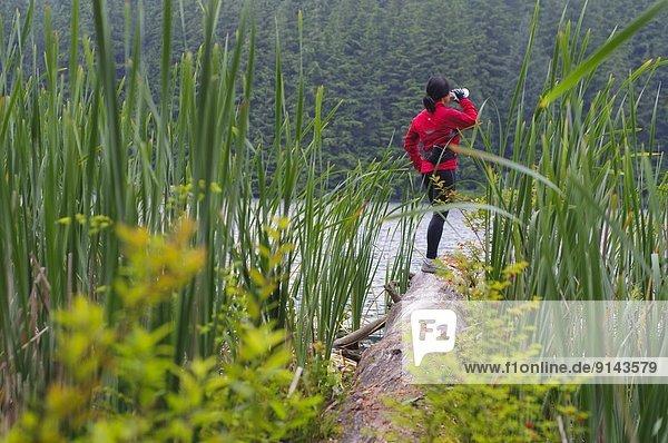 folgen  rennen  See  wandern  British Columbia  Kanada