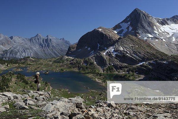 hoch  oben  Ländliches Motiv  ländliche Motive  Rocky Mountains  British Columbia  Kanada