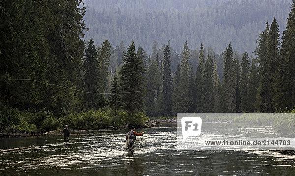 British Columbia  Kanada  Fliegenfischen