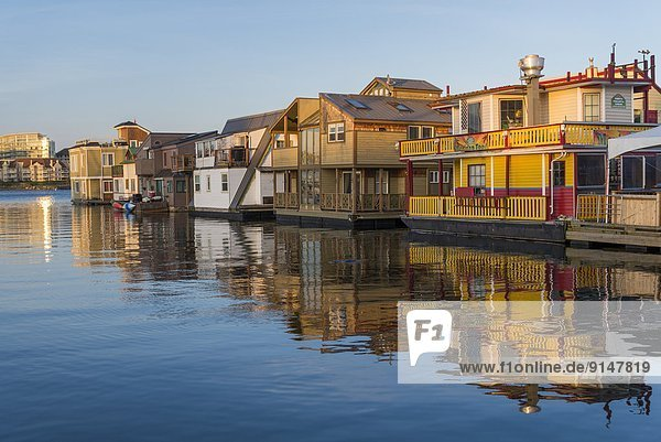 Floating homes  Fisherman's Wharf  Victoria  British Columbia  Canada