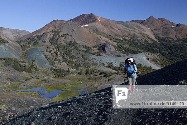 entfernt  Berg  Berggipfel  Gipfel  Spitze  Spitzen  Coast Chilcotin  British Columbia  Kanada