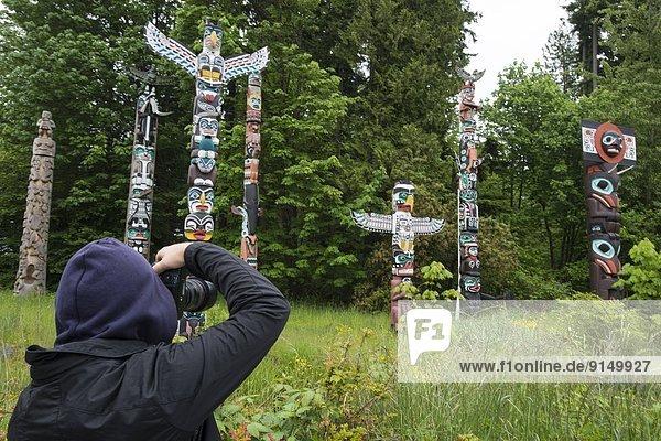 Stange Totempfahl Kanada