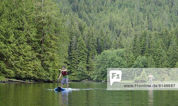 Insel Königin Broughton Archipelago British Columbia Kanada Meerenge