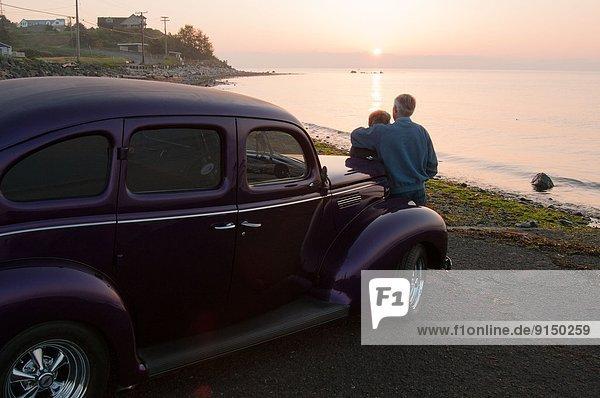 Strand  Sonnenaufgang  zeigen  alt  Ford  Schiffswache