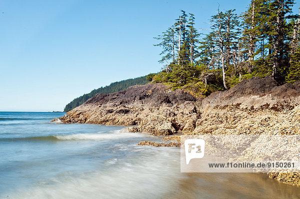 Strand lang langes langer lange Insel Ländliches Motiv ländliche Motive Bucht Vancouver