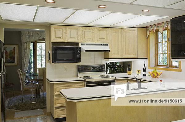Wohnhaus Zimmer Küche innerhalb Nachbarschaft Kanada Quebec