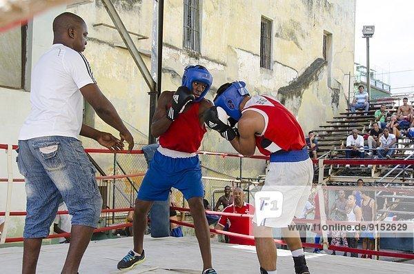 Scenes from Rafael Trejo Boxing Gym  Havana  Cuba