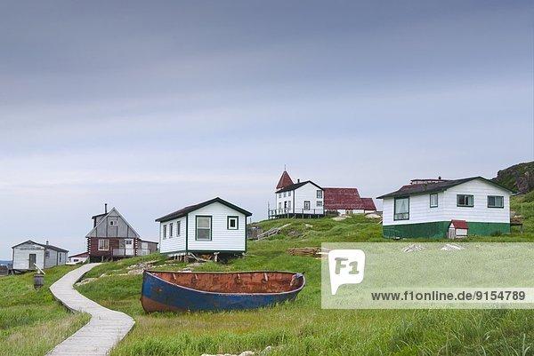 Hafen Wirtschaft Küste Dorf angeln Schlacht reparieren Labrador Süden