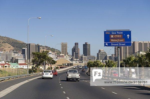 Highway in Kapstadt  Südafrika